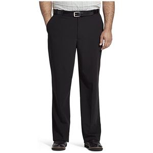 NWT Van Heusen Big & Tall Black Flex Slacks